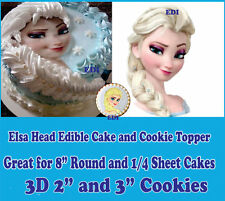 Edible Elsa's head cake image! Frozen picture sugar pre-cut face topper