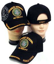 US Army Disabled Veteran Military Licensed Baseball Caps Embroidered (7507A10**)