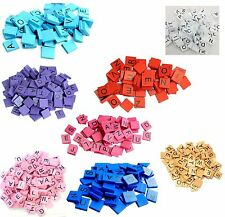 100 pieces Wooden Scrabble Tiles Set colored Scrabble Arts & CRAFTS Board Games