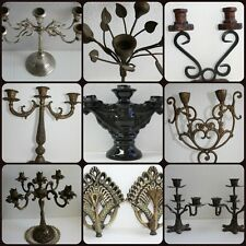 Candlestick Candle Holder Candelabra Bronze Brass Silver Vintage Antique Rare