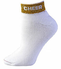"""Pizzazz® """"Cheer"""" Anklet Socks - 2 Pairs - NEW!"""