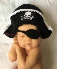 Pirate Hat Newborn Baby Crochet Knit Cap Costume Photo Photography Prop Outfit