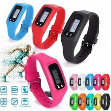 10 Colors Digital LCD Pedometer Calorie Counter Run Step Walking Distance Watch