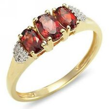 10KT Gold Filled Chic Elegant Size 7,8,9 Jewelry Red Garnet Womens Fashion Rings
