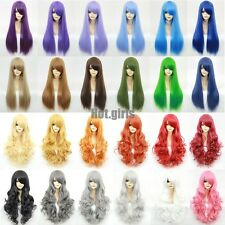 15% Off Halloween Fancy Cosplay Wigs Long Curly Wave Straight Heat Resistant Wig
