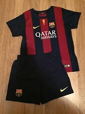 Children's Barcelona Football Top And Shorts Age 5-6