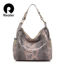 WOMEN HANDBAG GENUINE LEATHER TOTE BAG FEMALE SERPENTINE SHOULDER BAGS RHNWB0833