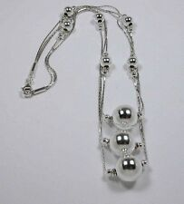 CARDS AND SPHERES STERLING SILVER NECKLACE CA 776