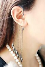 Chain Fake Cartilage Ear Nose Lip Cuff Wrap Clip On Earrings No piercing