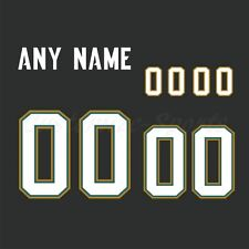Jacksonville Jaguars Football Black Jersey Customized Number Kit un-sewn