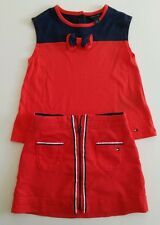 Girls designer clothes - Red top and skirt outfit by Tommy Hilfiger - 3-4 years