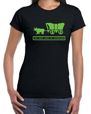 202 Died of Dysentery womens T-shirt Oregon video game trail vintage 80s vintage