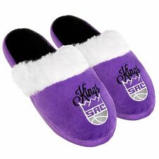 Sacramento Kings Womens Colorblock Fur Slide Slippers NBA New Style