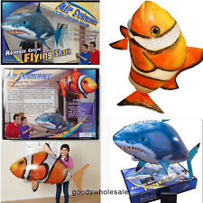Air Swimmer Remote Control RC Flying Inflatable Fish Shark Blimp Balloon xmas