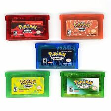 Game Cards for GBM/GBA/SP/NDS Pokemon Sapphire/Emerald/FireRed/LeafGreen/Ruby