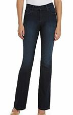 NEW NYDJ Not Your Daughters Jeans pants Barbara bootcut Burbank navy crystals 8P
