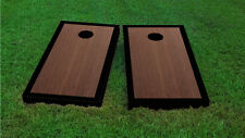 Premium Black Border Rosewood Stained Cornhole Board Game Set