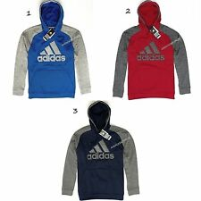 ADIDAS NEW MENS CLIMAWARM TECH LOGO PULLOVER HOODIE,NWT,BLUE,RED,RETAIL $55