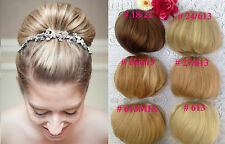 Ladies Bun Clip in Hair Extension Piece For Wedding Parties Kanekalon Fibre 70g