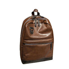 Stylish Leather Backpack School Bag Rucksack Laptop Camping Travel Black&Brown