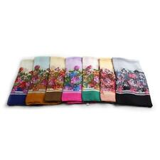 Hot Women Voile Floral Printed Edge Scarf Shawl Wrap Large Elegant Country Style