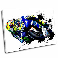 Valentino Rossi Canvas Grunge Wall Art Print Framed Picture 6 Gallery Grade