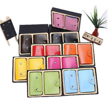 2PC Wallets Credit Card Key Holder Holder Key Case 24 Card PU Leather Package