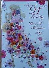 IT'S YOUR 21st BIRTHDAY HAVE A FABULOUS DAY - BIRTHDAY CARD