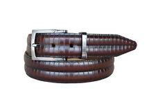 Lejon Men's Piano Bar Handcrafted From Luxury  Grain Leather Brown Belts 13242