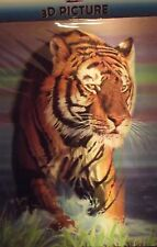 3D PICTURE  TIGER  ( NEW SEALED ) WALL DECOR