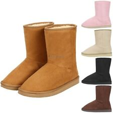 Fashion Women Winter solid Ankle Snow flat Boot Fleece Lined Size 36-40 CO99