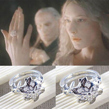 Lord of the Rings Galadriel Nenya White Gold & CZ Ring size 6