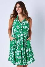 NEW that bird label Womens Knee Length Dresses Cassie Dress Floral Jungle Green