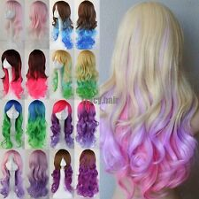 60cm/80cm/100cm Long Straight Cosplay Fashion Colors Full Wig Heat Resistant HOT
