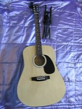 Squier Fender SA-105 Acoustic Guitar. Full Size. With Case/Stand Etc.