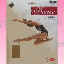 Children's Dance Shimmer Full Foot Tights - Lt Toast & Toast- 5 sizes: 3 - 13yrs