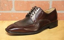 Calzoleria Toscana Men's Oxford Dark Brown Leather Dress Shoe Made in Italy 3796