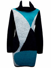 NEW LADIES Roll Neck Eyelash Knitted Jumper top/dress Size 10,12,14,16,18,20,22