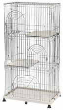 IRIS Indoor 3-Tier Wire Cat Cage, Kitten Cage, Cat Condo, 2 Colors Available