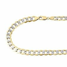 Mens Womens 10K Yellow Gold Diamond Cut Cuban 6MM Chain Necklace - 20-28 Inches