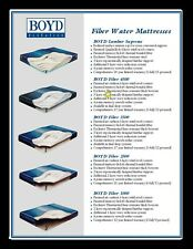 FIBER 60% - 99%  TETHERED LUMBAR SUPPORT WAVELESS WATERBED MATTRESS BUNDLES