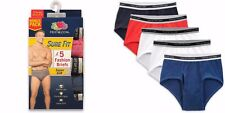 Fruit of the Loom Men's Fashion Briefs SURE FIT 5-PACK Assorted Color Size S-3XL