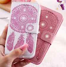 Luxury Leather Diamond Flower Magnetic Flip Bling Wallet Cover Case For iPhone 6