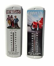 THREE STOOGES GOLF MASTERS OR RED CORVETTE STINGRAY THERMOMETER METAL DECOR