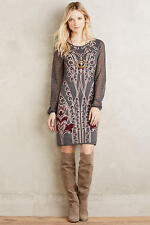 NWT Anthropologie Saone Sweater Dress by kinitted&knotted, Grey XS-S,$168 5* Rev