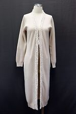 NWT.$3095 Brunello Cucinelli Womens 100% Cashmere Sequined Long Cardigan Sweater