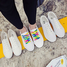 Womens New Lace up Canvas Shoes Pumps Plimsolls Trainers Sneakers Low Top Shoes