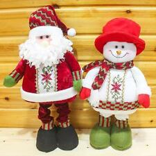 Festnight Fashion Retractable Christmas Santa Claus Snowman Doll Best Gift J0F6