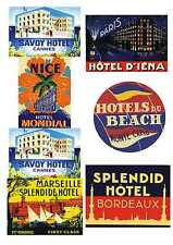 12 Reproduction Vintage Luggage Suitcase Labels Stickers - France No.1