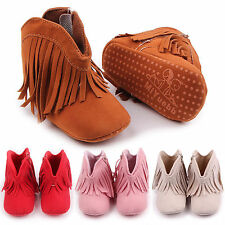 New Infant Baby Boy Girl Toddler Shoes Cute Tassel Anti-Slip Prewalker Boots Hot